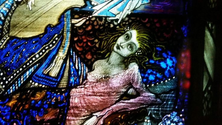 The Eve of St Agnes by Harry Clarke - He can undress ladies with his mandolin? Wow