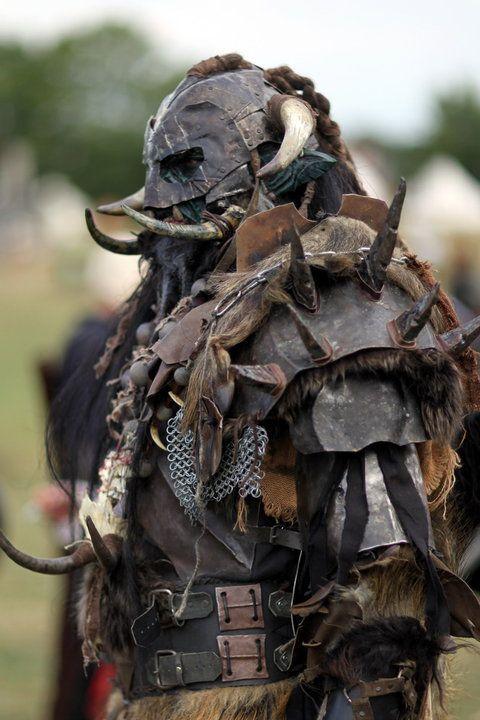 Een Orc kostuum wat gedragen wordt op Drachenfest, een groot LARP evenement in Duitsland. Gave shit!
