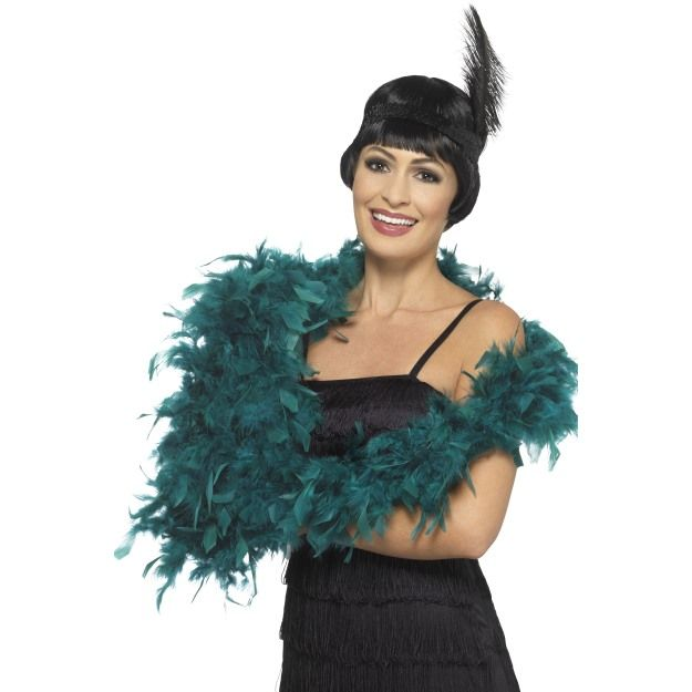Deluxe Feather Boa Flapper Burlesque Accessory 180cm Long 80G Fancy Dress