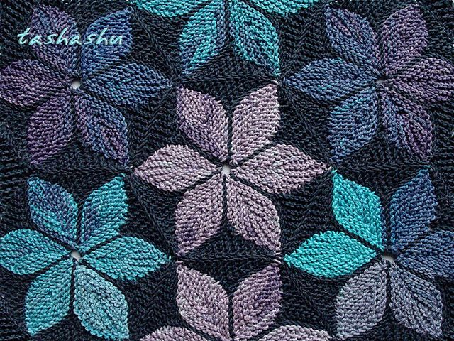 Ravelry: Hexagon Kaleidoscope patchwork knitting pattern by Svetlana Gordon