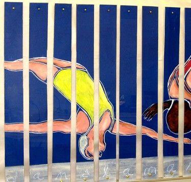 "Saatchi Art Artist Rita Lamontagne; Painting, ""Yellow Diver"" #art"