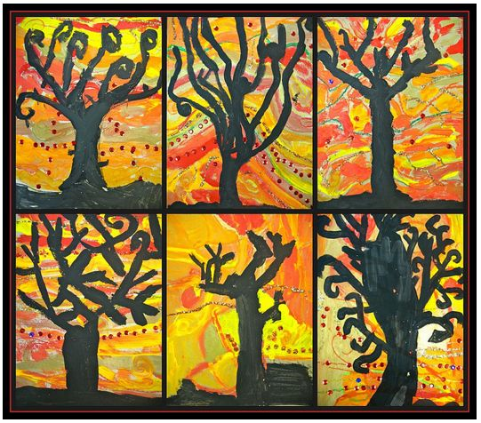 november bulletin board ideas for teachers | Fall Art Project Ideas