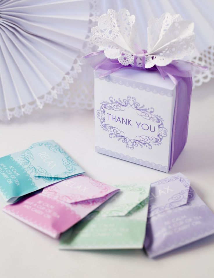 {Free Printable} Tea bag favors  Great for a bridal shower or ladies tea party.