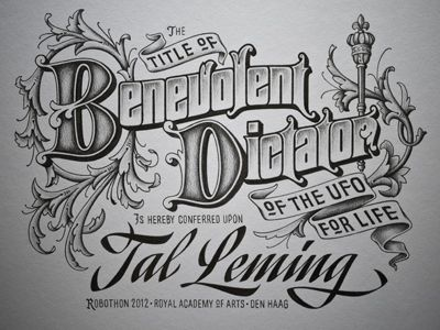 Type and Lettering: Benevolent Dictator