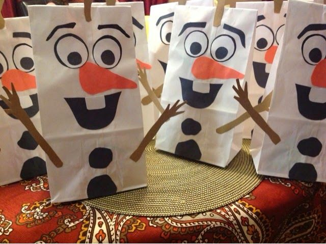 free olaf invitations | Olaf goodie bags for all the princesses that attended!