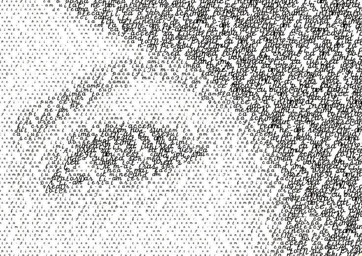 Andra Măruță typography portrait