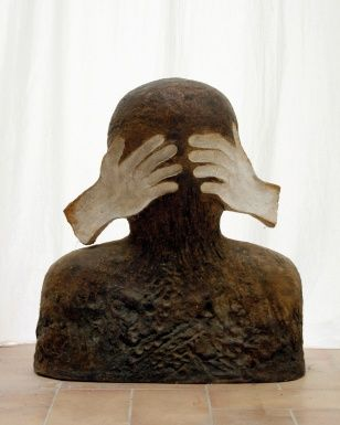 Who Am I?, fired clay, 75 cm, 1997
