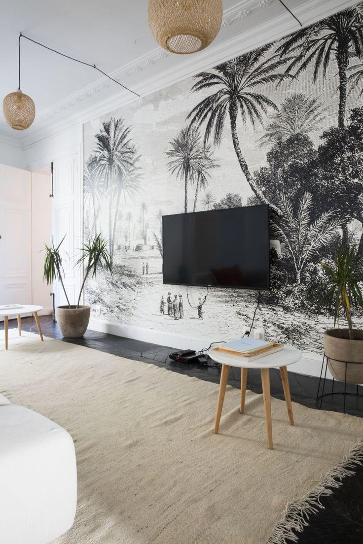 69 best couleurs et papiers peints images on pinterest blue green family homes and green walls. Black Bedroom Furniture Sets. Home Design Ideas