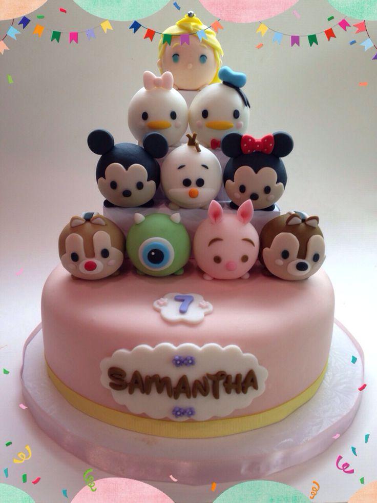 Disney Party Ideas: Tsum Tsum Party Cake.