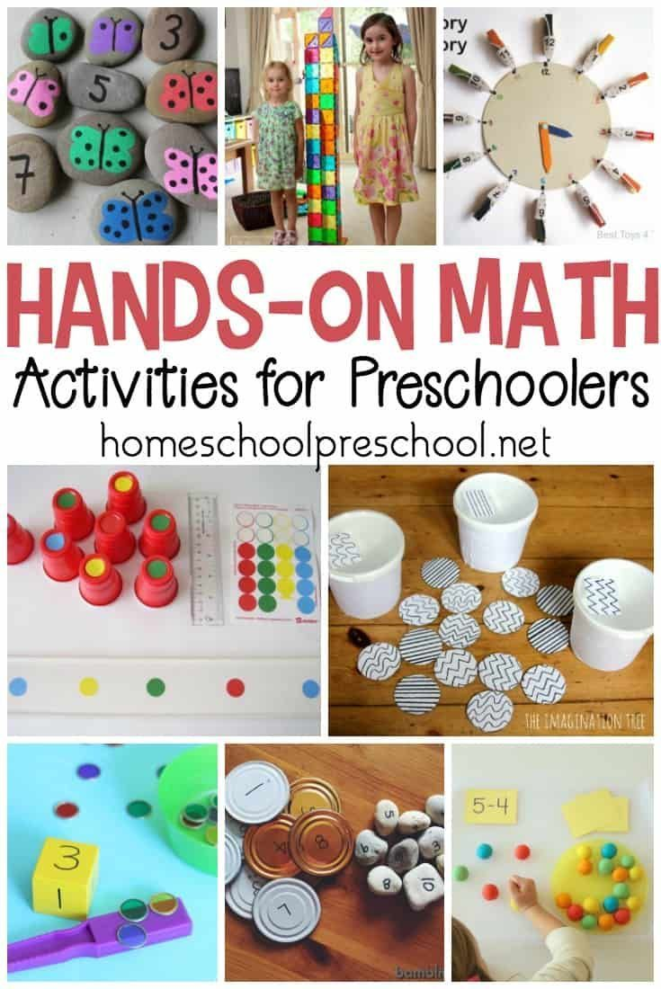 30 Quick And Easy Hands On Preschool Math Activities Math