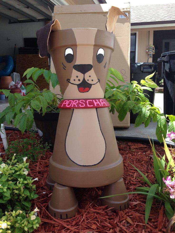 Terra cotta pot dog craft