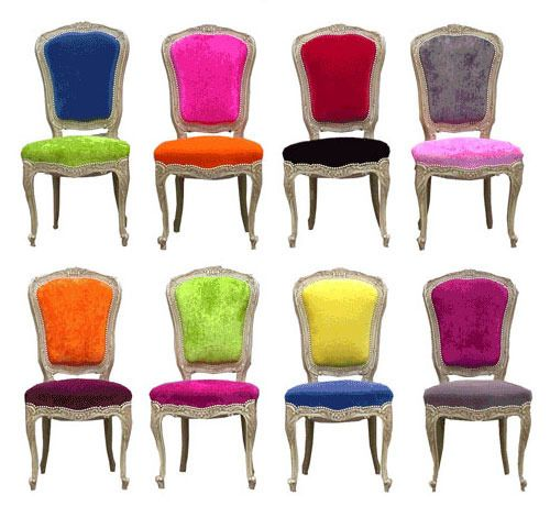Charming Old Styles, New Fabrics: Funky Reupholstered Chairs Part 2
