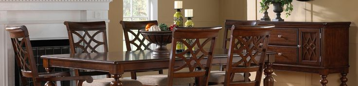 The best part about traditional furniture is that it's always in style. Wood dining chairs sets offer a classic look and give you the chance to refresh decor time after. Choose from a variety of finishes, like mahogany or oak. Insider tip: add character to a traditional style with mismatched chairs or a bench for a funky twist.