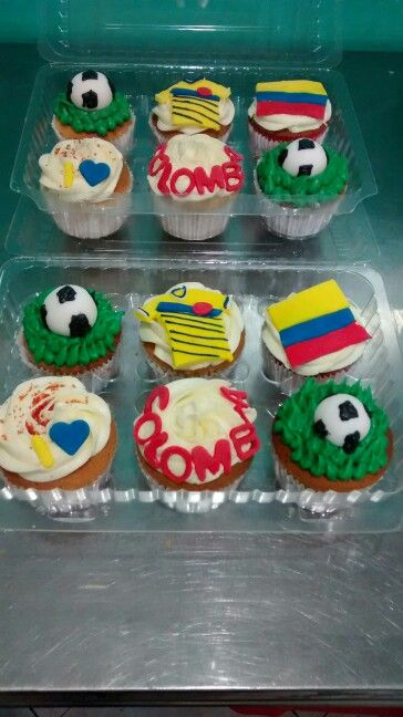 Cupcakes colombia fútbol