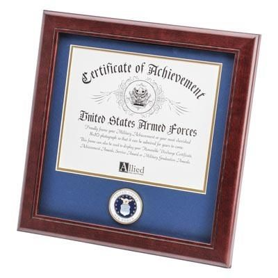 Air Force Certificate Frame with Air Force Medallion