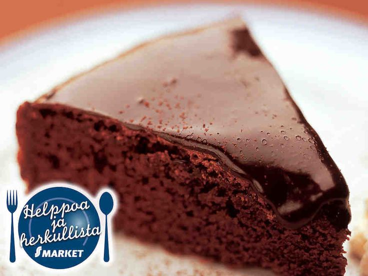Suussa sulava suklaakakku - This chocolate cake just melts in your mouth.