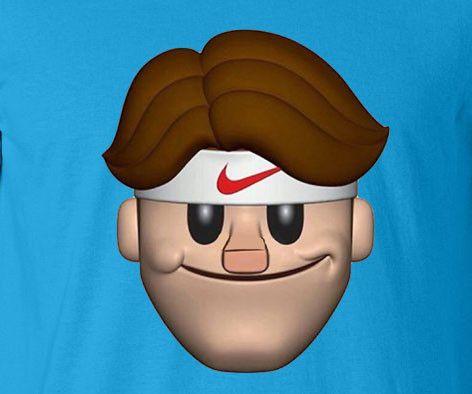 Caricature Cartoon Roger Federer Tennis Wimbledon French US Open Switzerland Genius tee t-shirt