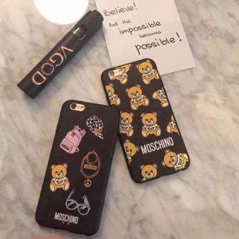 ブランド モスキーノ IPhone8/7sスマホケース ジャケット アイフォン7/7 Plusカバー 可愛い 熊さん アイフォン6/6s Plus モスキーノ Iphone6/6sケースカバー