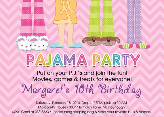 26 best Adult PJ party images on Pinterest Sweet 16 sleepover - best of birthday invitations sleepover party