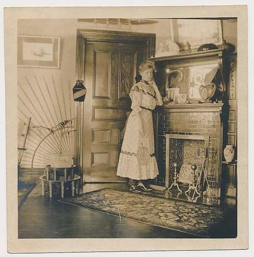 Vtg 1900 Edwardian Interior