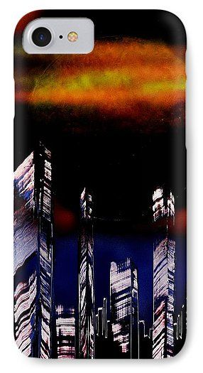 Printed with Fine Art spray painting image Capital Of The Other Land by Nandor Molnar (When you visit the Shop, change the orientation, background color and image size as you wish)