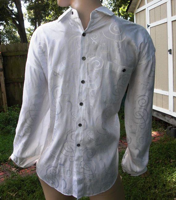 Mens 80s Shirt/ Vintage Shirt/ White Shirt/Mens by Wear The Right Thing by Henri Valdise #gottagovintage1