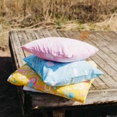 Organic cushion with playful designs from Swedish brand Majvillan.