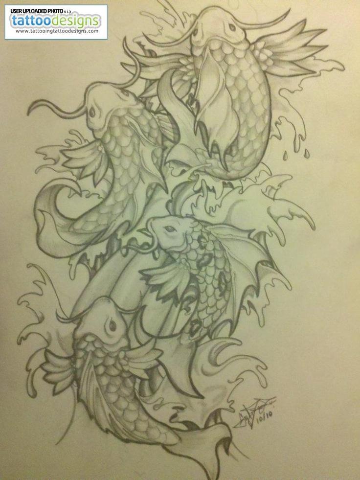 Koi fish tattoo drawing by abnormega art nc tattoo ideas for Butterfly koi tattoo