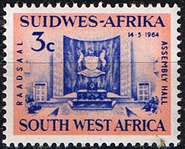 South West Africa 1964 Windhoek Assembley Hall Fine Mint SG 195 Scott 297 Other African and British Commonwealth Stamps HERE
