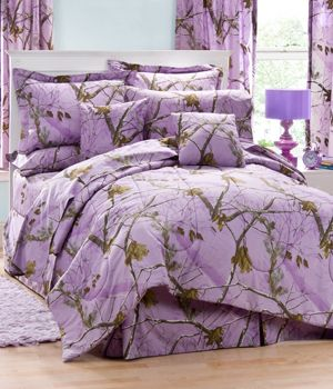 Lavender Camo Bedding and Accessories. Awsome. Need this sssssooo bad!!!
