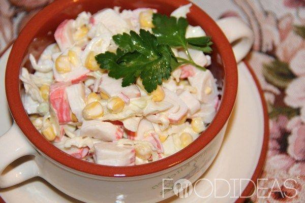 Крабовый салат с пекинской капустой | Застолье-онлайн
