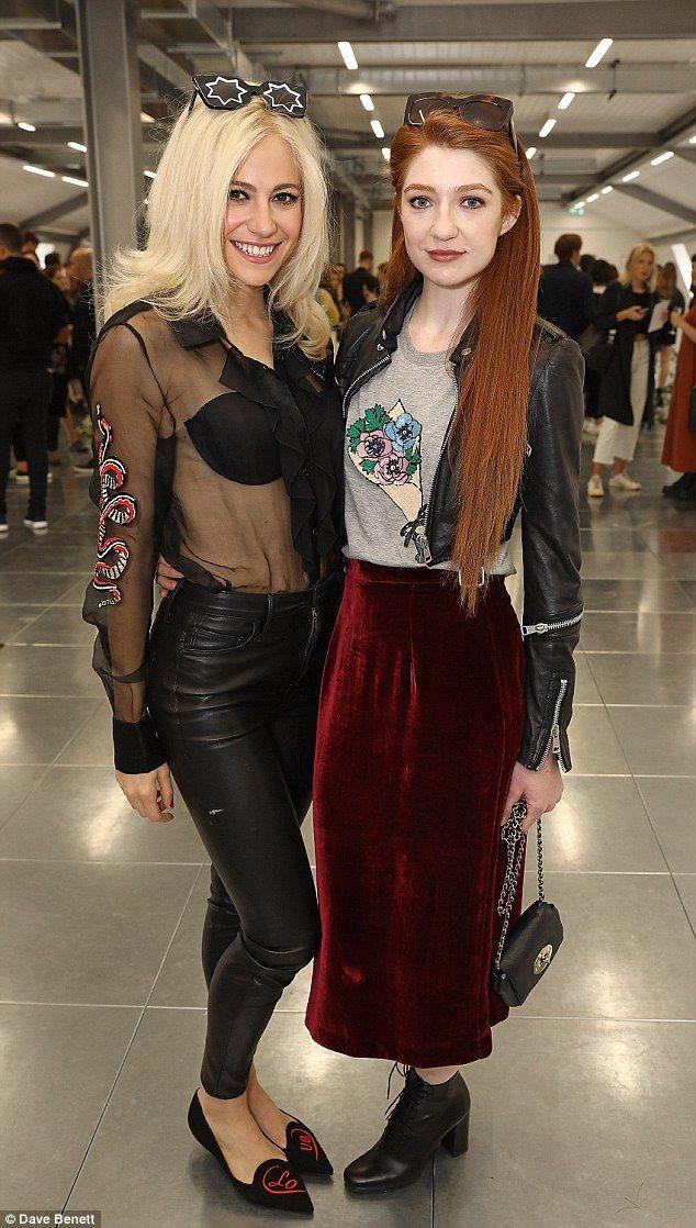 Stylish duo: Pixie posed alongside former Girls Aloud star Nicola Roberts...