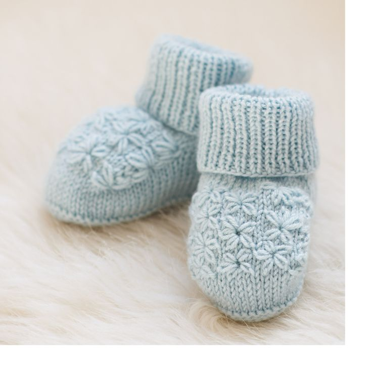 Little Posy Toes  - knitted in the gorgeous Sublime baby cashmere merino silk 4 ply