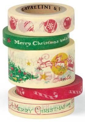 retro Christmas tape