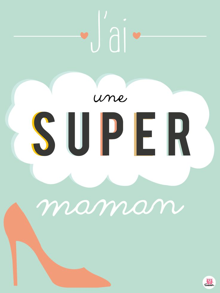 Affiche design pour super parents ;) Disponible sur www.boum-badaboum.fr