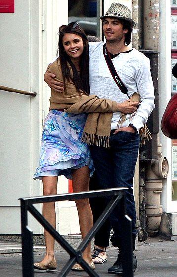 Nina Dobrev and Ian Somerhalder: How They Fell in Love: L'amour De Ma Vie #cute