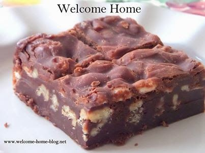 Welcome Home Blog: Marshmallow Walnut Brownies