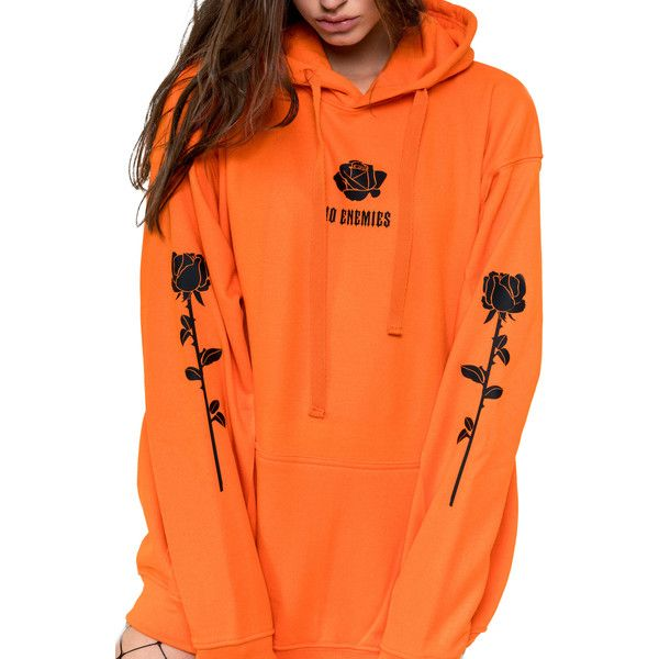 No Enemies Hoodie Sweater Sweatshirt Jumper Top Womens Tumblr Grunge... ($37) ❤ liked on Polyvore featuring tops, hoodies, dark orange, sweatshirts, women's clothing, hooded sweatshirt, orange hooded sweatshirt, oversized hoodies, oversized hooded sweatshirt and gothic hoodie