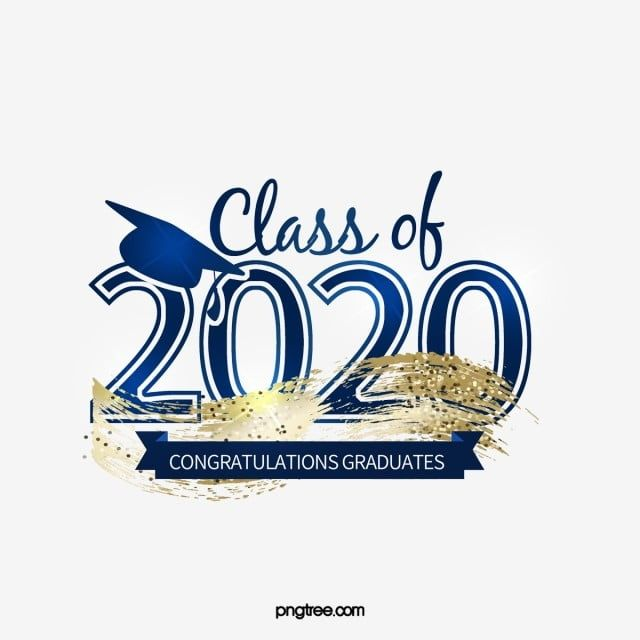 Blue Gradient Creative 2020 Graduation Logo Fancy English Font Golden Strokes Particular Year Png Transparent Clipart Image And Psd File For Free Download Graduation Logo Logos Logo Clipart