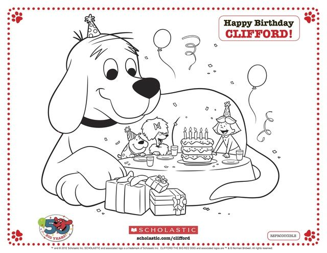 Free Clifford the Big Red Dog Coloring Pages: Clifford the Big Red Dog Birthday Party