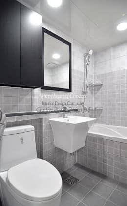 수원 정자동 한라비발디 27평: JMdesign 의  욕실