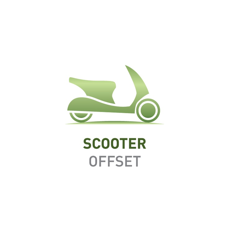 Offset the emissions of your scooter    Greenfleet will plant enough native trees to capture 1.3 tonnes CO2-e, the average emissions produced by a scooter in one year.    Visit http://www.greenfleet.com.au/PurchaseOffset/tabid/132/CatID/2/Individual.aspx