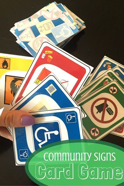 Community Sign UNO - practicing environmental print while playing games!