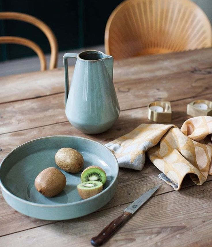 Our Neu Stoneware are inspired by Bauhaus classics, using strictly geometric shapes. The look is softened by the vivid grey glaze. View it here: http://www.fermliving.com/webshop/shop/kitchen.aspx