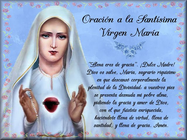 17 best ESTAMPAS CON ORACIONES A LA VIRGEN MARÍA images on ...