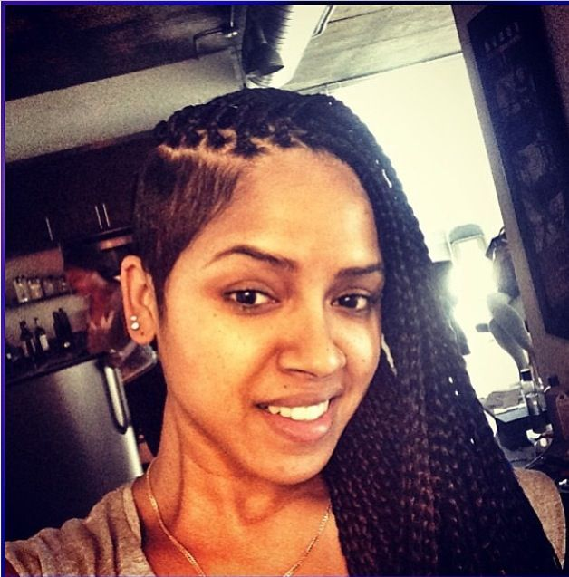 RaVaughn Brown's box braids with shaved sides