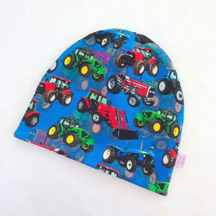 A personal favourite from my Etsy shop https://www.etsy.com/se-en/listing/589794314/blue-tractor-beanie-boy-tractor-beanie