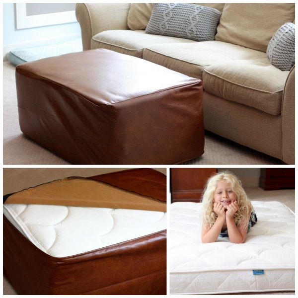 Ooroo Folding Bed is the BEST for Sleepovers. It's a very useful piece of double duty furniture. #smallspaces