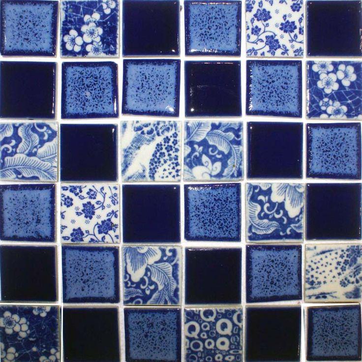17 best images about ceramic porcelain tiles on pinterest for Blue floor tile