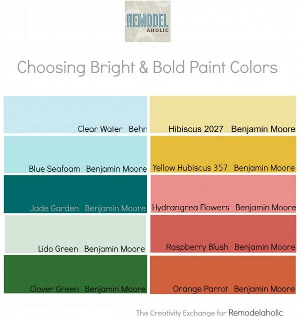 25 best ideas about bright paint colors on pinterest Bold house colors
